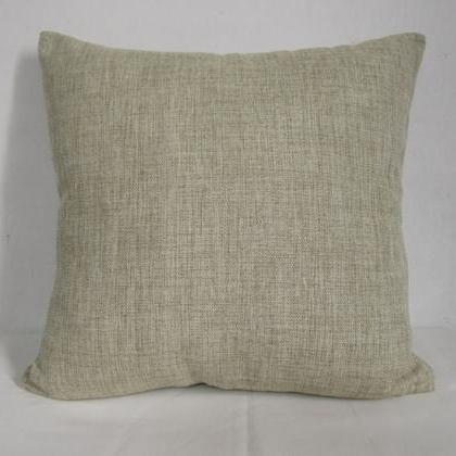Decorative Linen Pillow Cushion Cov..