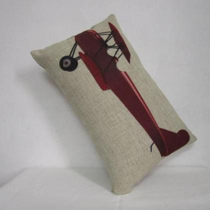 Decorative Airplane Pillow : Linen Pillow Cover Airplane/ Aircraft Pillow Decorative Throw Pillow Cushion Cover Home Decor ...