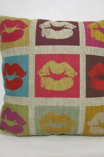 Decorative Linen Pillow Cushion Cover Mouth Pillowcase